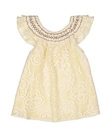 Masala Baby Girl Flutter Dress Lace
