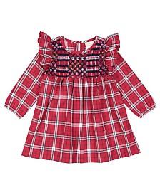 Masala Baby Girl Smocked Dress Tartan