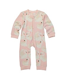 Masala Baby Girl Organic Zippered One Piece Swan Song