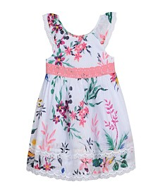 Laura Ashley London Baby Girl's Flutter Sleeve Dress