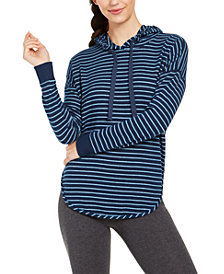 Alfani Cozy Knit Striped Hoodie, Created for Macy's