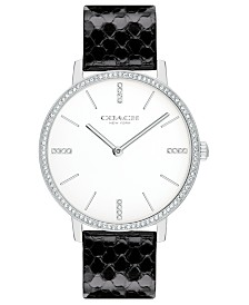 COACH Women's Audrey Black Snakeskin Strap Watch 35mm