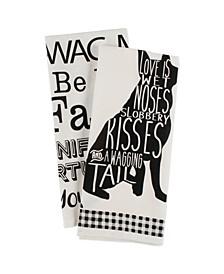 Asst Dog Prints Dishtowel Set of 2