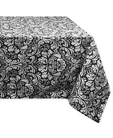 "Design Imports Damask Tablecloth 60"" x 104"""