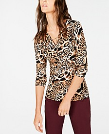 INC Twisted Animal-Print Top, Created for Macy's