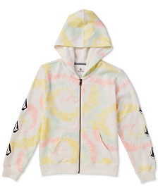 Volcom Big Girls Tie-Dyed Fleece Hoodie