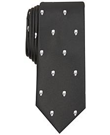INC Men's Skinny Skull Neat Tie, Created for Macy's