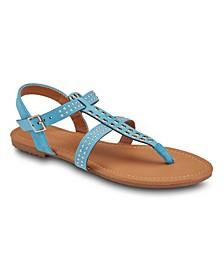 Sunshine Daydream Grommet Sandals