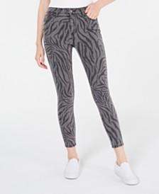 Tinseltown Juniors' Zebra-Print Skinny Jeans