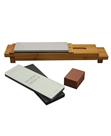 Kramer by Zwilling J.A. Henckels 6-Px. Glass Water Stone Sharpening Set