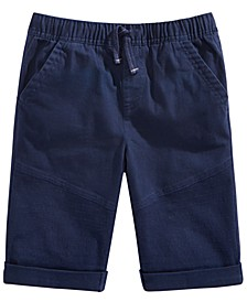 Big Boys Stretch Twill Drawstring Moto Shorts, Created for Macy's