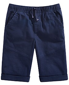 Epic Threads Big Boys Stretch Twill Drawstring Moto Shorts, Created for Macy's