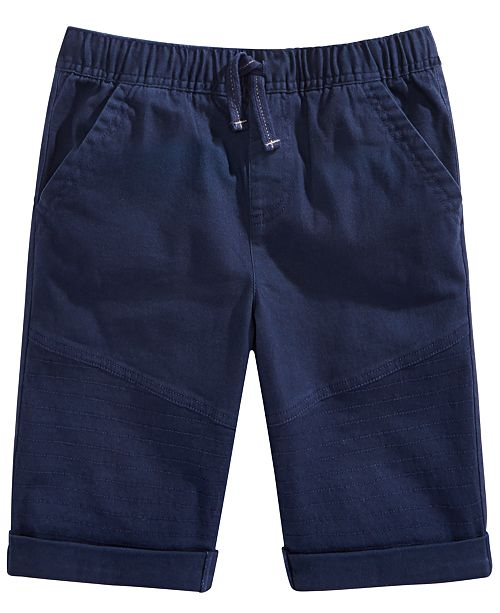 Epic Threads Big Boys Stretch Twill Drawstring Moto Shorts, Created for Macy's