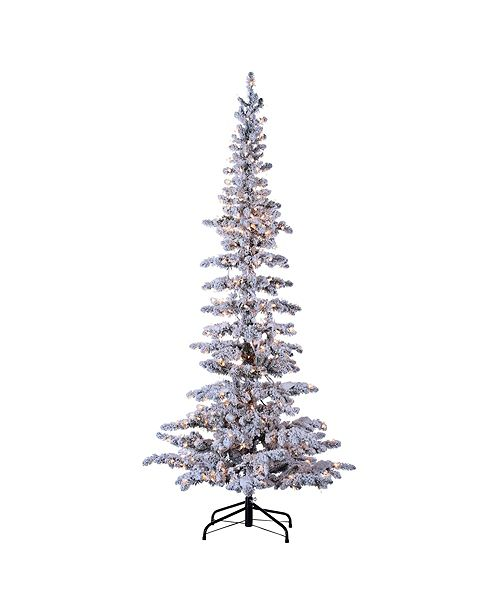 Sterling 7.5ft. Pre-Lit Flocked Narrow Austin Pine with 400 Clear Lights