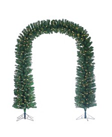 7.5-Foot High Pre-lit Arch Tree with Clear White Lights