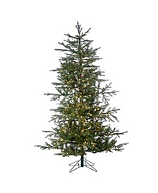 6.5-Foot High Pre-Lit Natural Cut Portland Pine with Instant Glow Power Pole Feature