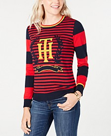 Striped Crest Sweater, Created for Macy's