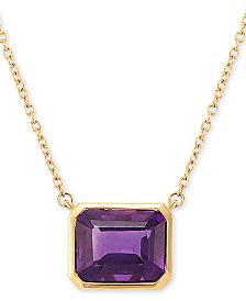 """Amethyst 18"""" Pendant Necklace (3-1/6 ct. t.w.) in 14k Gold"""