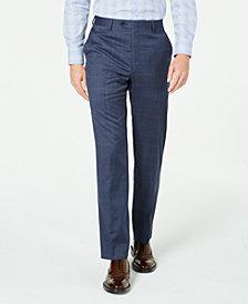 Lauren Ralph Lauren Men's Classic-Fit UltraFlex Stretch Blue Windowpane Suit Separate Pants
