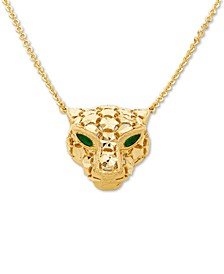 "Effy Oro by EFFY® Panther 18"" Pendant Necklace in 14k Gold"
