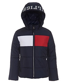 Tommy Hilfiger Big Girls Flag Puffer Jacket