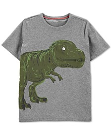 Little & Big Boys Dinosaur-Print Zip Cotton T-Shirt