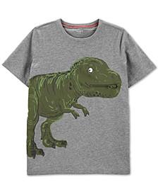 Little & Big Boys Dinosaur-Print Zip Cotton T-Shirt