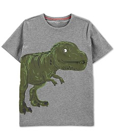 Carter's Little & Big Boys Dinosaur-Print Zip Cotton T-Shirt