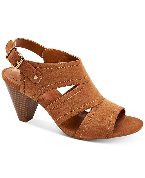 Style & Co Hosper Cone-Heel Sandals, Created for Macy's