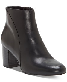 I.N.C. Floriann Block-Heel Ankle Booties, Created for Macy's