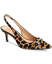 I.N.C. Carynn Kitten-Heel Slingbacks, Created for Macy's