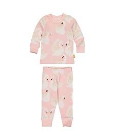 Masala Baby Girl Organic Pajama Set Swan Song