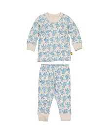 Masala Baby Boy and Girl Organic Pajama Set Monkey Madness