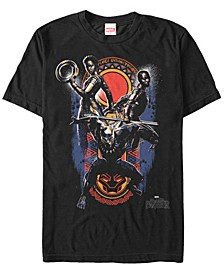 Men's Black Panther The Big Three Group Shot Short Sleeve T-Shirt