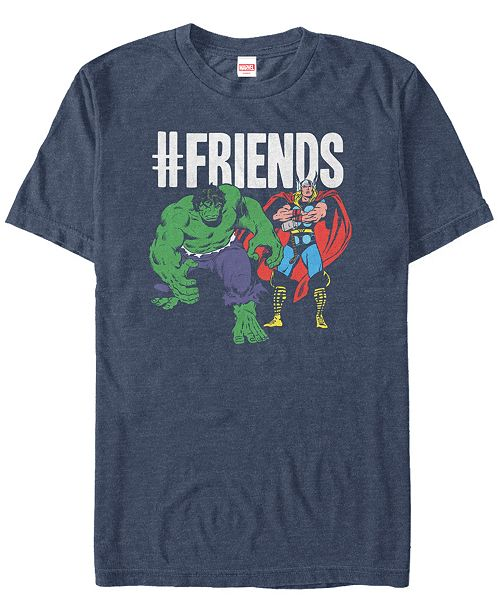 Marvel Men's Comic Collection The Hulk and Thor We're friends Short Sleeve T-Shirt