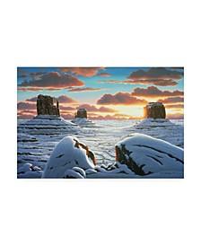"R W Hedge Tres Hombres Canyon Canvas Art - 27"" x 33.5"""