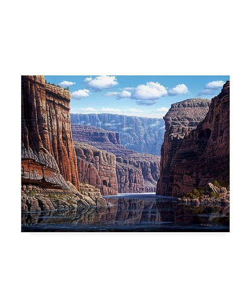 """Trademark Global R W Hedge Natures Way Canvas Art - 36.5"""" x 48"""""""