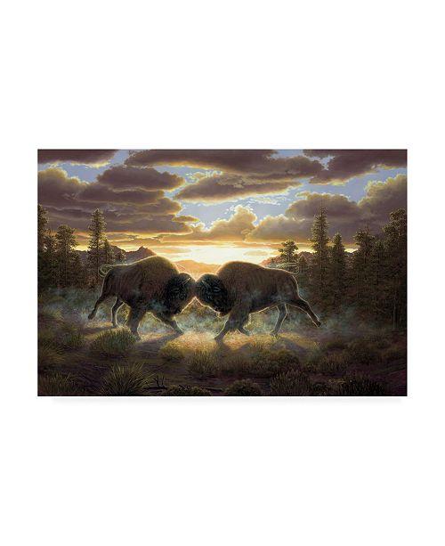 "Trademark Global R W Hedge Buffalo Two Canvas Art - 27"" x 33.5"""