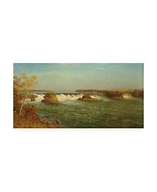 "Albert Bierstadt The Falls of Saint Anthony Canvas Art - 15.5"" x 21"""