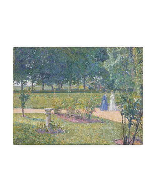 "Trademark Global Spencer Frederick Gore The Garden, Garth House Canvas Art - 15.5"" x 21"""