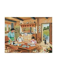 """Trevor Mitchell A Cottage Kitchen Canvas Art - 36.5"""" x 48"""""""
