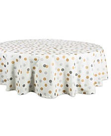 "Metallic Confetti Tablecloth 70"" Round"