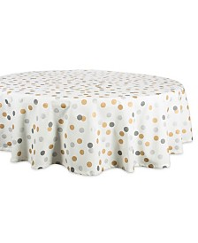 "Design Imports Metallic Confetti Tablecloth 70"" Round"