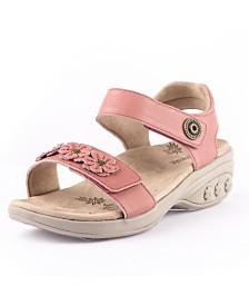 Therafit Shoe Sydney Adjustable Floral Leather Sandal