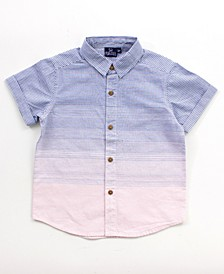Little and Big Boys Printed Button Down Shirt
