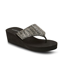 Olivia Miller Sole Survivor Wedge Sandals
