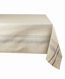 "Chambray French Stripe Tablecloth 60"" x 104"""