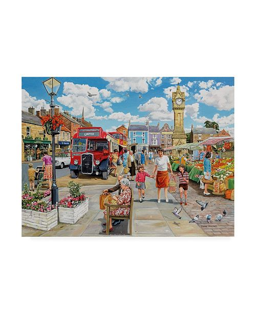 "Trademark Global Trevor Mitchell Arriving in Market Square Canvas Art - 27"" x 33.5"""