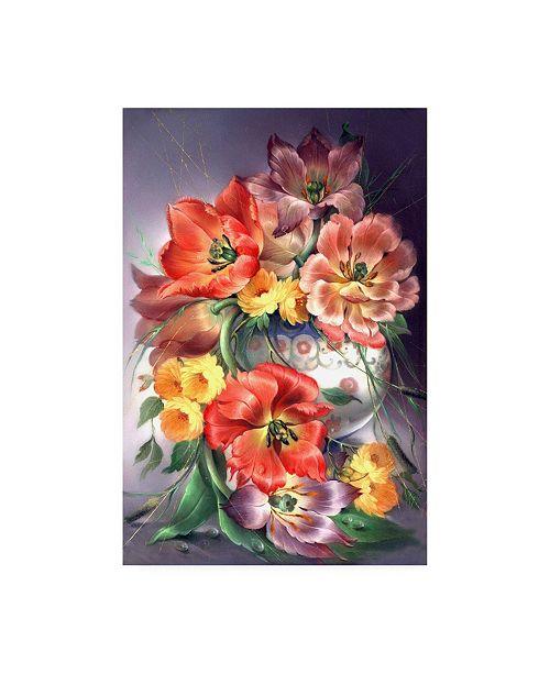 "Trademark Global Tania Fedorova White Floral Vase Canvas Art - 19.5"" x 26"""