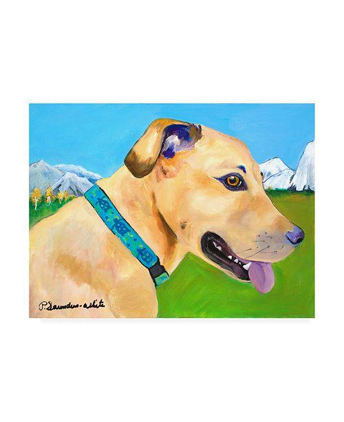 "Trademark Global Pat Saunders-White Hadley X Large Copy Canvas Art - 15.5"" x 21"""